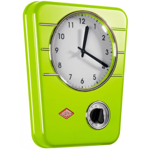 Wesco 322 322401-20 - Orologio da cucina Classic Line, colore: Verde lime