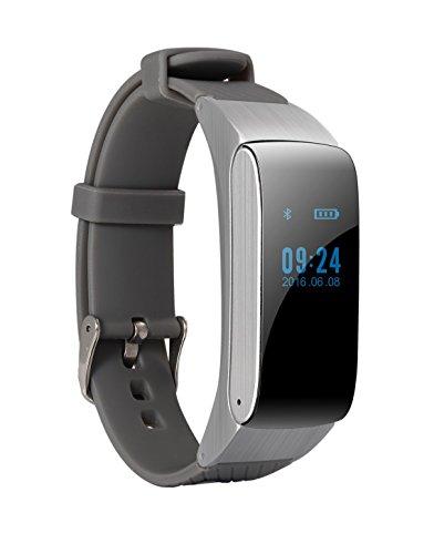 Jiazy Orologio Intelligente con Bluetooth,con le funzioni di inserimento della carta/telefono/notifiche di messaggi/osservazione di sonno,sopporta Samsung,Huawei con andriod e Iphone6/Iphone6s con IOS
