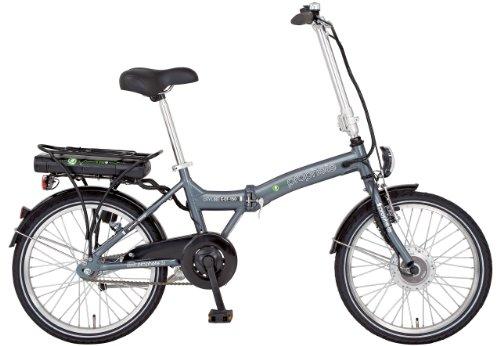 Prophete, Bicicletta elettrica pieghevole in alluminio ECF 150, Altezza telaio: 32 cm, Ruote: 51 cm  E-bike Alu-falt 20 Zoll Ecf 150, Grigio (graphitgrau)