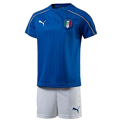Puma FIGC Italia Home Minikit Completo Calcio, Blu, taglia 92