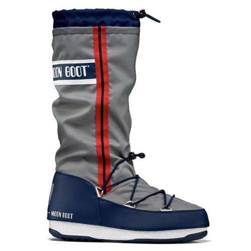 Moon Boot W.E. Waterfall, Stivali, Unisex - adulto, Multicolore (Grigio/Blu Navy), 39