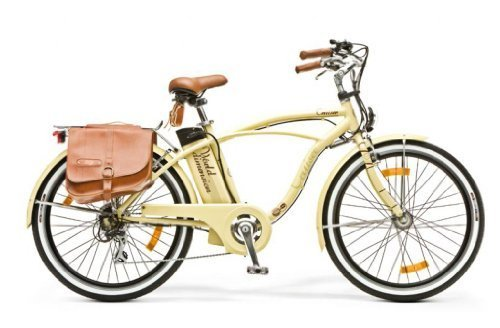 WORLD DIMENSION BIKE BICICLETTA BICI ELETTRICA CRUISER RETRO' 26'' 6S CREMA ALLUMINIO