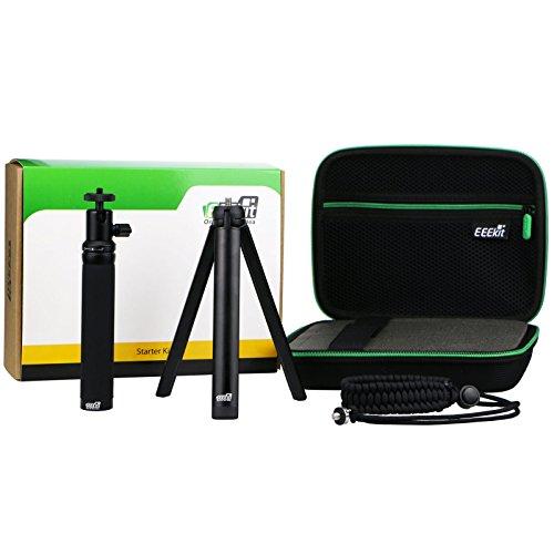 eeekit 4in1Starter Kit per LG 360Cam R105sferica, antiurto Custodia per fotocamera, Selfie Stick, Mini treppiede Securiy cinturino da polso, W/1/4vite