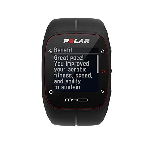 Polar M400 Cardiofrequenzimetro Senza Sensore di Frequenza Cardiaca, Nero