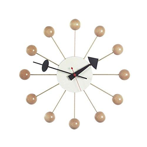 Vitra 201 250 02 - Orologio da parete Ball, diametro 33 cm, colore naturale