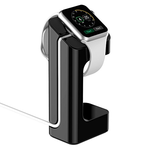 Apple Watch Supporto, JETech® Apple Watch Stand Caricabatterie Supporto/Stand/Station/Dock/Platform per 38/42mm Sport Edizione Tutte le Modelle (Nero)