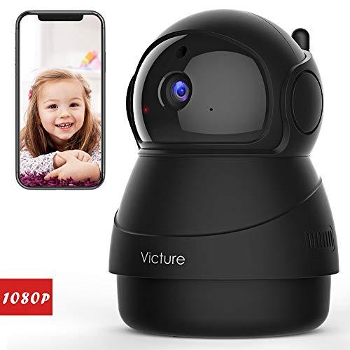 Victure FHD 1080P Telecamera di Sorveglianza WiFi,videocamera IP Interno Wireless con Visione Notturna, Audio Bidirezionale, Notifiche in tempo reale del sensore di movimento