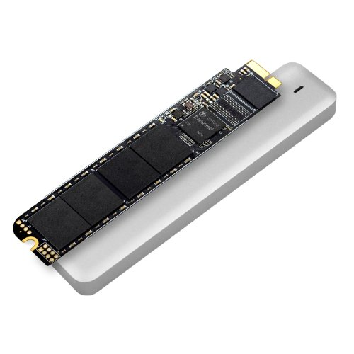 Transcend JetDrive 500 SSD Interno per MacBook Air 240 Go SATA III, Late 2010 - Mid 2011, Kit con Case Esterno USB 3.0, Custodia e Cacciavite, Nero