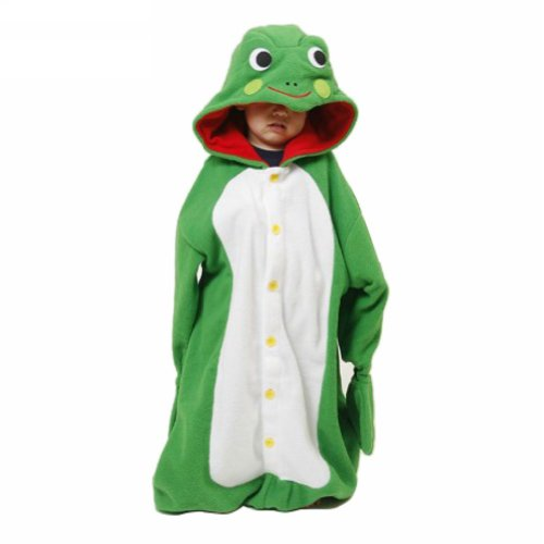 Ferrand Pajamas Kigurumi Children's Unisex Cosplay Animal Costume Onesie For Kids Rana Verde Xl