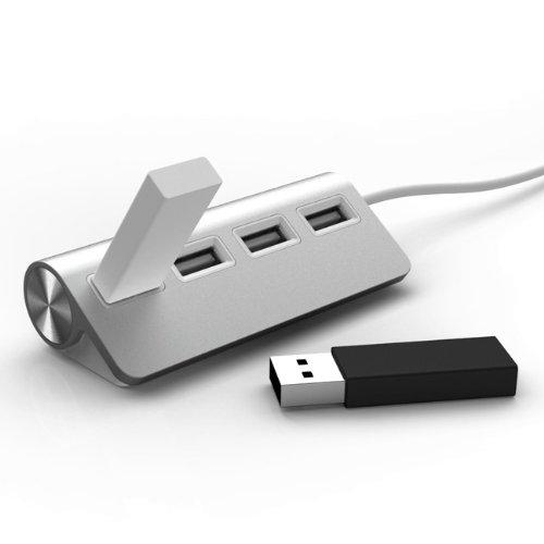 Mobility Lab ML301570 - Hub USB in alluminio, 4 porte, colore: Rosa argento