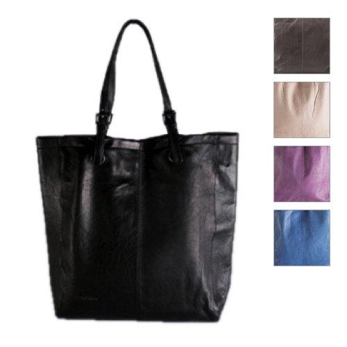 FEYNSINN borsa a mano MELLY - shopper - taglia L - sacchetto hobo vera pelle (34 x 4x 9 cm)
