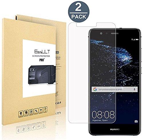 [2-Pack]Huawei P10 Lite Pellicola Protettiva, EasyULT 2 Pack Pellicola Protettiva in Vetro Temperato per Huawei P10 Lite(Vetro con Durezza9H, Spessore di 0,26 mm,Bordi Arrotondati da 2,5D-Shockproof, Trasparenza ad alta definizione)