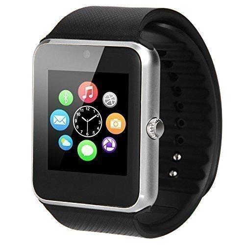 """MEMTEQ® 1,54""""Smart Watch Orologio Intelligente Bluetooth V3.0 NFC Touchscreen Monitoraggio Sonno, Pedometro, Sveglia, Fotografia Remota, Sensore Gravità Supporta Chiamata Messaggio SIM IM per Cellulari Smartphone Android Samsung, HTC, HUAWEI, ZTE, LG, HTC, Ecc."""