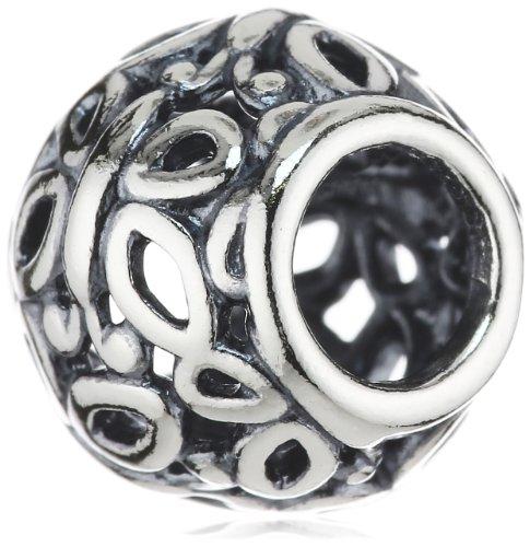 Pandora 790895 Silver Openwork Flower Charm - Bead componibile da donna, argento sterling 925