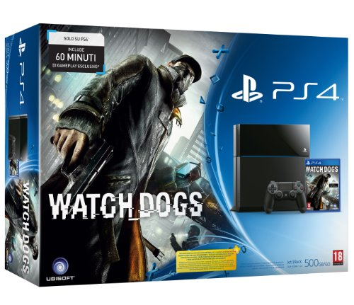 PlayStation 4 - Console 500GB A Chassis + Watchdogs