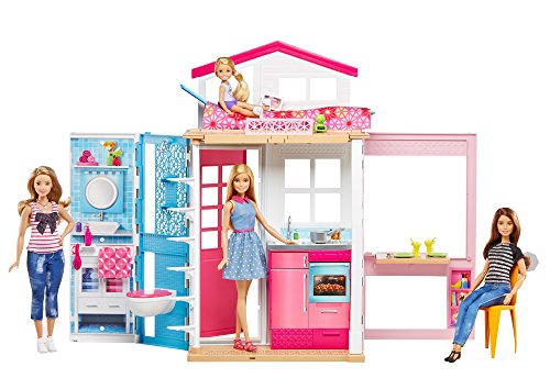 Barbie DVV48 - Casa Componibile con Bambola Barbie
