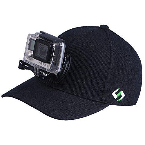 Smatree cappello di baseball per Go Pro - SmaHat H1 con Quick Release per GoPro Hero 4, Session, 3+, 3, 2, 1 (M(57-59))