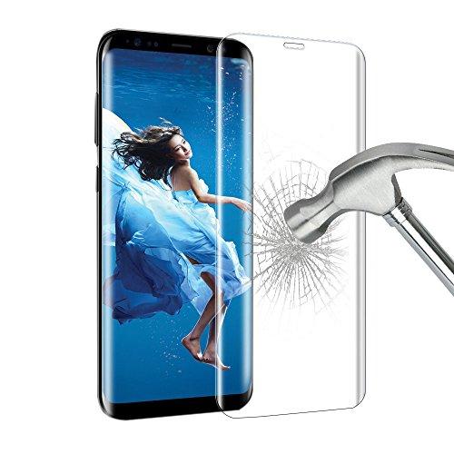 """3D curva Pellicola protettiva per Samsung Galaxy S8 Plus, Ubegood Galaxy S8 Plus Vetro Temperato Screen Protector film 9H Durezza HD ultra-chiaro film Pellicola Vetro per Samsung Galaxy S8 Plus (6,2"""")"""