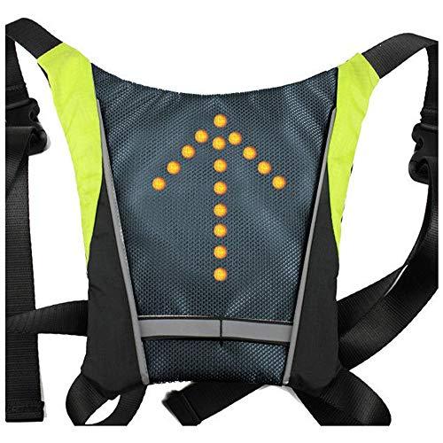 LED indicatori di direzione luce riflettente gilet zaino/business/Travel/laptop/zaino scuola sport outdoor impermeabile per bicicletta di notte di sicurezza, Signal Vest - Green