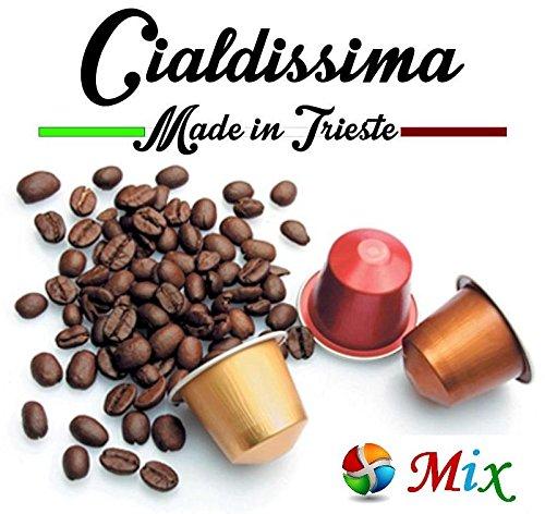 cialdissima 100 CAPSULE CAFFÈ NESPRESSO! 100% COMPATIBILI! MIX DI 3 GUSTI