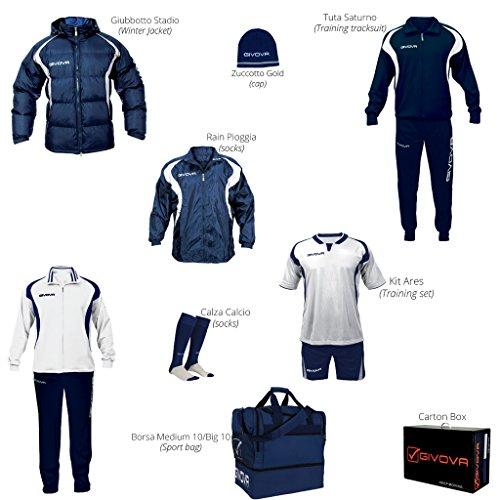 Givova Abbigliamento Sportivo Completo Box Givova Bianco-blu S