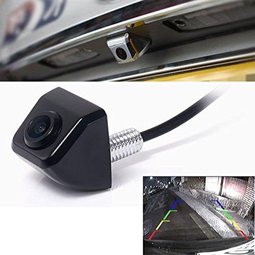 fenrad Nero E366 Impermeabile Posteriore Vision Macchina Fotografica Telecamera da Retromarcia CCD Angolo di Visione da 170 Gradi Vista Frontale Back Camera Avanti Reserve Parcheggio per Auto--Black