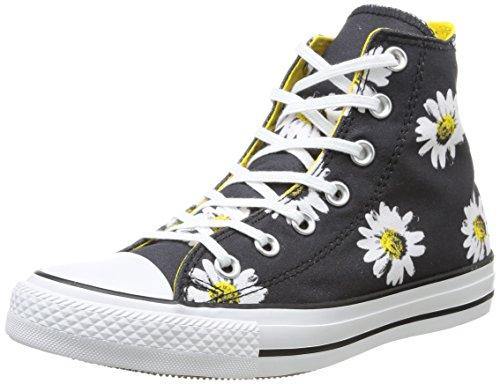 Converse, All Star Hi Graphics, Sneaker, Donna, Multicolore (Black Daisy/Citrus), 35