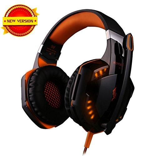 Cuffie da Gioco Gaming Headphone con Microfono Stereo Bass LED Luce  Regolatore di Volume per PC c5be1c7202df