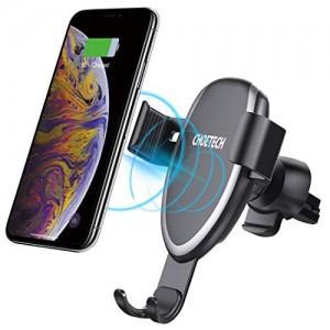 Caricatore Wireless Auto 10W per Galaxy S10/ S9/ S9 Plus/ S8/ Note 8, 7.5W per iPhone XR/XS/XS Max/X/ 8/8 Plus, 5W per Huawei Mate 20 PRO/ P30 Gravity Ricarica Wireless da Auto