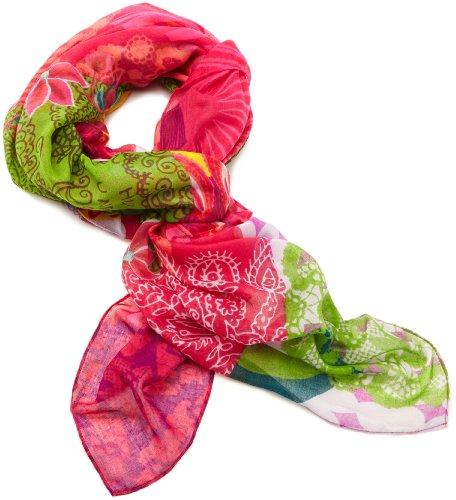 Desigual Floreada - Pashmina, donna, Rosso (Rot (Fresa)), Taglia unica