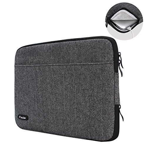 iCozzier 13-13.3 polici di Neoprene borsa da trasporto Laptop/ Notebook Computer/ Chromebook/ MacBook/ MacBook Pro/ MacBook Air/ Ultrabook Computer - Grigio