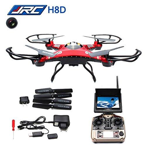 WayIn® JJRC H8D RC Quadcopter elicottero Drone con trasmettitore FPV Monitor di trasporto Real Time Video Modo senza testa, macchina fotografica 2MP