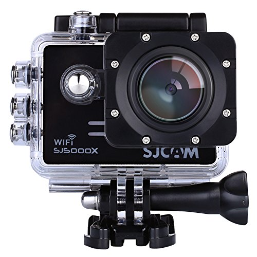 SJCAM SJ5000X Elite Azione Camera 4K 1080P WiFi impermeabile AV 170 ° Obiettivo Grandangolare da 12 Megapixel Sony IMX078 Giroscopio o HDMI Out E OSD Enabled (nero)