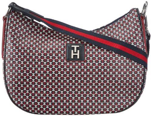 Tommy Hilfiger  HANNAH MEDIUM CROSSOVER,  Borsa a spalla donna, Rosso (Rot (TH PRINT 073)), 33x25x11 cm (B x H x T)