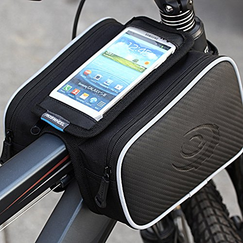 Roswheel bicicletta della bici anteriore Telaio Superiore manubrio Borsa /Custodia /Sacchetto per 5 pollici smartphone,Capacità: 1.8L
