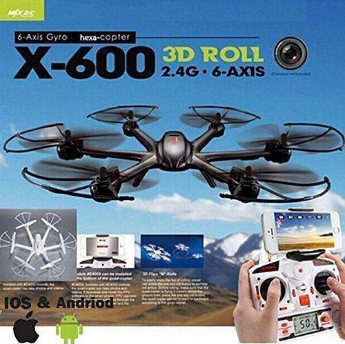 YUNIQUE (R) DRONE MJX X600-FPV vedi i video direttamente sul tuo cellulare (COLORE BIANCO O NERO CASUALE)